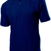 Рубашка поло мужская Stedman, 100 % хлопок пике, классический крой, 2 пуговицы, рукава без манжет, плотность 170 гр, цвет темно синий